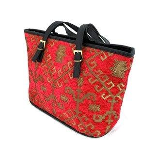 Red Pomegranate Kilm 13-inch Travel Tote Bag