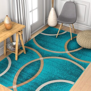 "Well Woven Modern Geometric Circles Rug - 3'3"" x 5'"