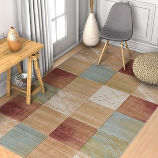 Well Woven Modern Geometric Color Blocks Rug (7'10 x 9'10)
