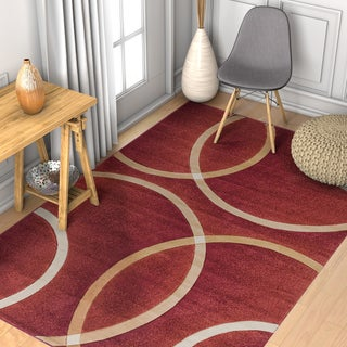 Well Woven Modern Geometric Circles Rug - 7'10 x 9'10