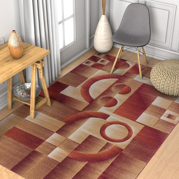 Well Woven Geometric Abstract Rug - 7'10 x 9'10