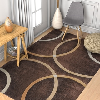 Well Woven Modern Geometric Circles Rug (2' x 3')