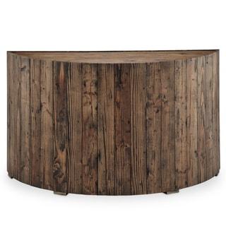 Dakota Rustic Reclaimed Pine Demilune Entryway Console Table