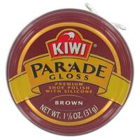 Kiwi 10313 1-1/8 Oz Brown Gloss Premium Shoe Polish With Silicone