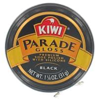 Kiwi 10311 1-1/8 Oz Black Gloss Premium Shoe Polish With Silicone