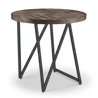 Bixler Transitional Distressed Nutmeg Oval End Table