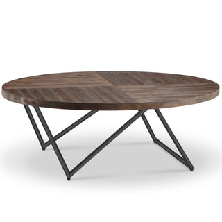 Bixler Transitional Distressed Nutmeg Oval Coffee Table