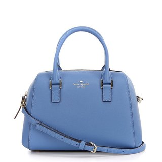 Kate Spade New York Greene Street Seline Blue Leather Satchel Handbag