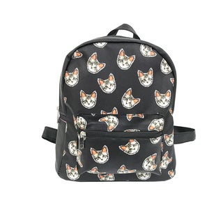 Alfa Pop Art Cat Faces Black Fashion Backpack