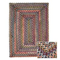 Multicolor Wool Braided Reversible Rug USA MADE - Multi-color - 3' x 5'