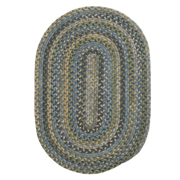 Colonial Mills Multicolor Wool Rustic Oval Braided Rug (4' x 6') - 4' x 6'