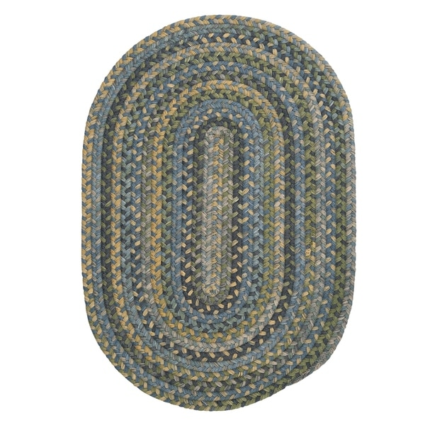 Used Oval Braided Rugs: Shop Colonial Mills Multicolor Wool Rustic Oval Braided