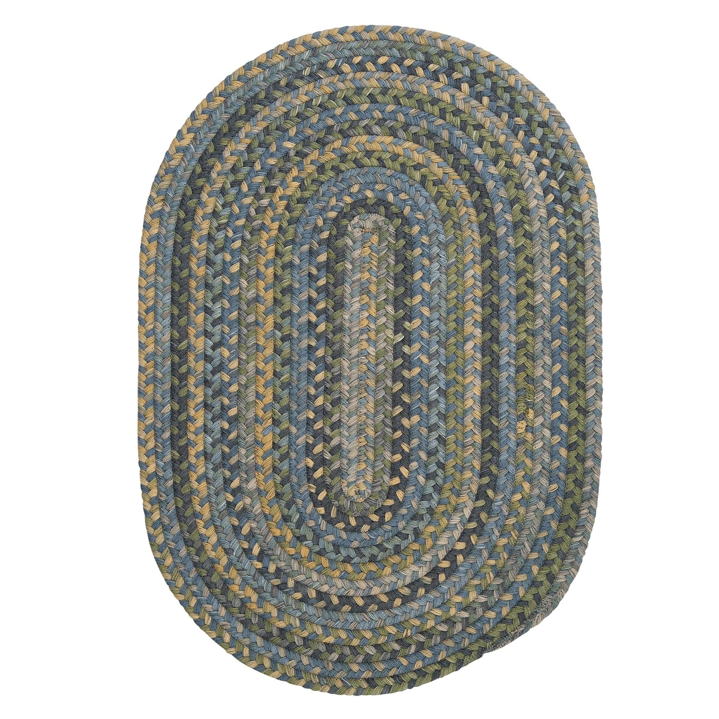 Colonial Mills Multicolor Wool Rustic Oval Braided Rug (4...