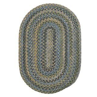 Rustic Multicolor Wool Oval Braided Rug (8' x 11') - 8' x 11'