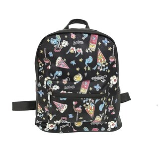 ALFA POP Art Happy Black Fashion Backpack