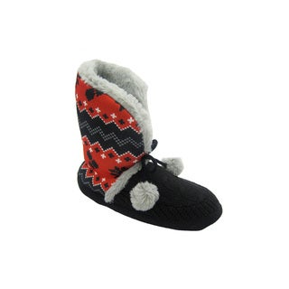 DC Comics 'Harley Quinn' Red and Black Bootie Slippers