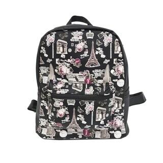 Alfa Pop Art Eiffel Tower Black Fashion Backpack