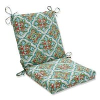 Pillow Perfect Outdoor/ Indoor Splendor Opal Squared Corners Chair Cushion