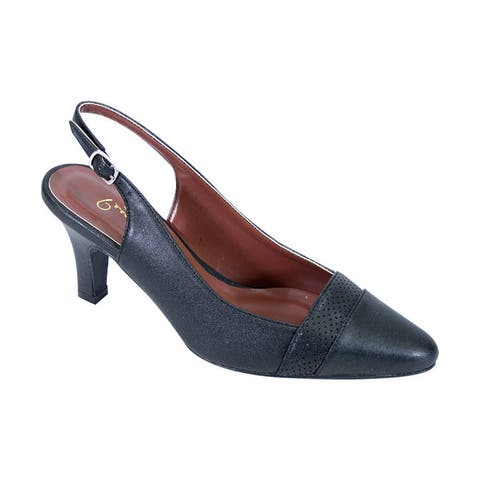d4829ed5669 FIC Women s Peerage Candy Extra Wide Width Classic Pointed Toe Dress  Slingback Shoes