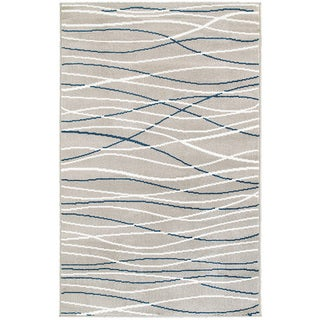 """L and R Home Grace Navy Indoor Area Rug (3'7"""" x 5'6"""")"""