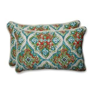 Pillow Perfect Outdoor/ Indoor Splendor Opal Rectangular Throw Pillow (Set of 2)