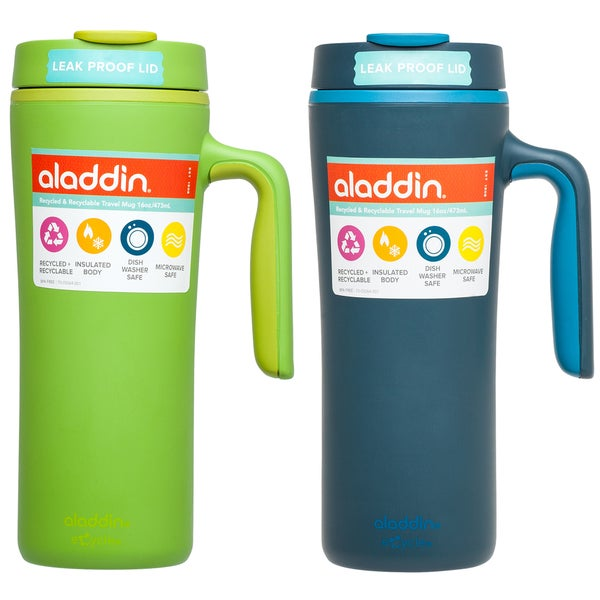 2b224c7e385 Aladdin 10-01926-001 16 Oz. Recycled/Recylable Travel Mug Assorted Colors