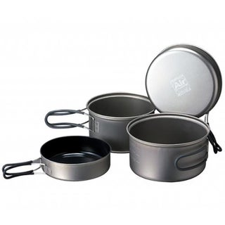 Solo Lite Kit - Anodized Aluminum Pots Set with Stove and Gas Canister