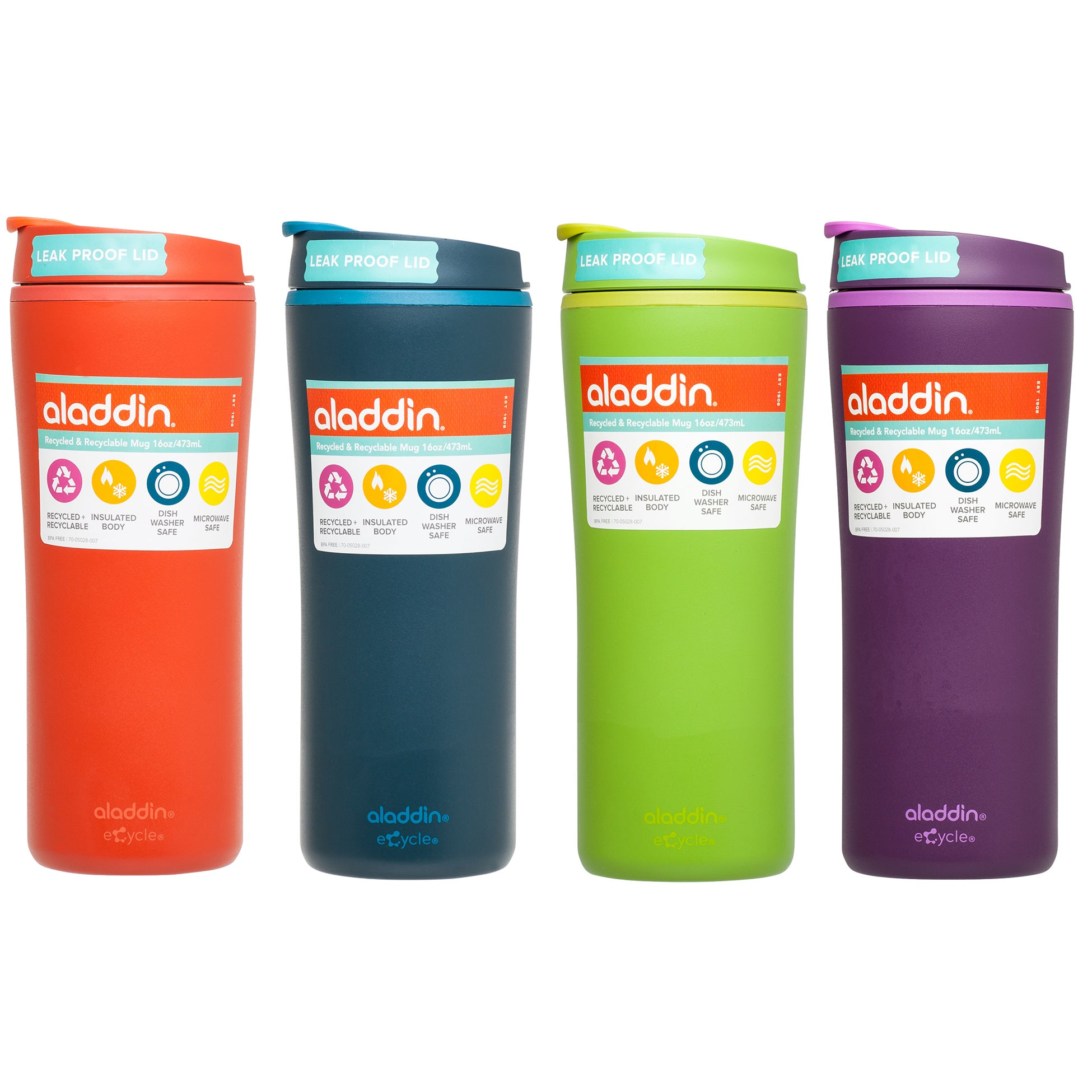 331a53f8ccd Aladdin 10-01927-001 16 Oz. Recycled/Recyclable Mug Assorted Colors