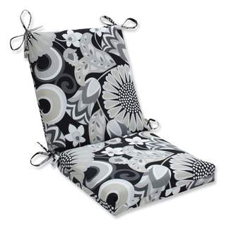 Pillow Perfect Outdoor/ Indoor Sophia Graphite Squared Corners Chair Cushion