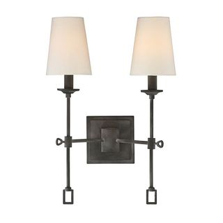 Lorainne 2-Light Oxidized Black Wall Sconce