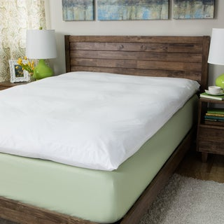 Super Snooze 5-inch 230 Thread Count Baffled Featherbed Set - White