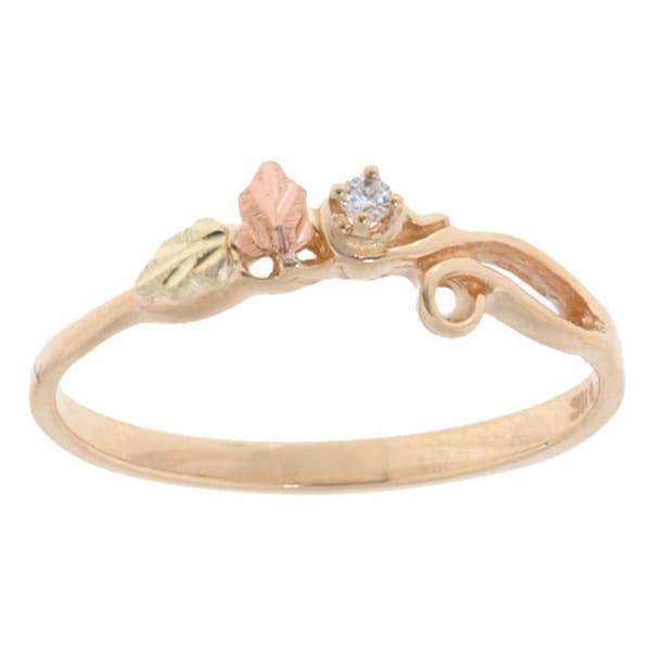 Black Hills Gold and Diamond Ring