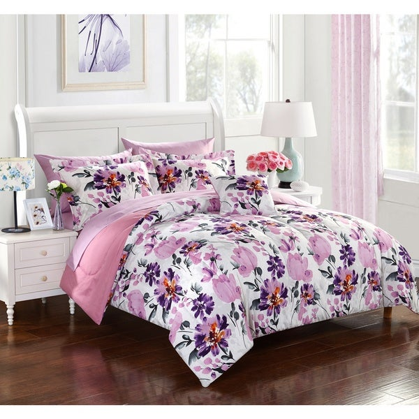 Dahlia 8-piece Bed in a Bag with Sheet Set