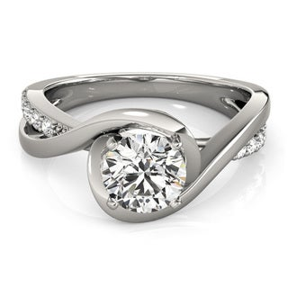 Transcendent Brilliance 14k White Gold 7/8ct TDW White Diamond Infinity Engagement Ring (G-H, VS1-VS2)