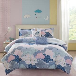 Urban Habitat Kids' Bliss Blue Cotton Printed Comforter Set (Option: Purple)|https://ak1.ostkcdn.com/images/products/14641163/P21180449.jpg?_ostk_perf_=percv&impolicy=medium