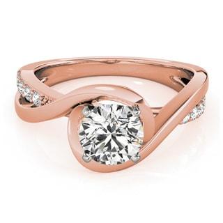 Transcendent Brilliance 14k Rose Gold 1 TDW White Diamond Intertwined Engagement Ring