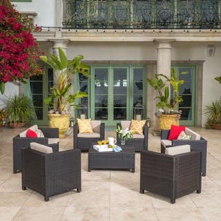 Puerta Outdoor 8-piece Wicker Sofa Set with Cushions by Christopher Knight Home|https://ak1.ostkcdn.com/images/products/14641217/P21180488.jpg?impolicy=medium