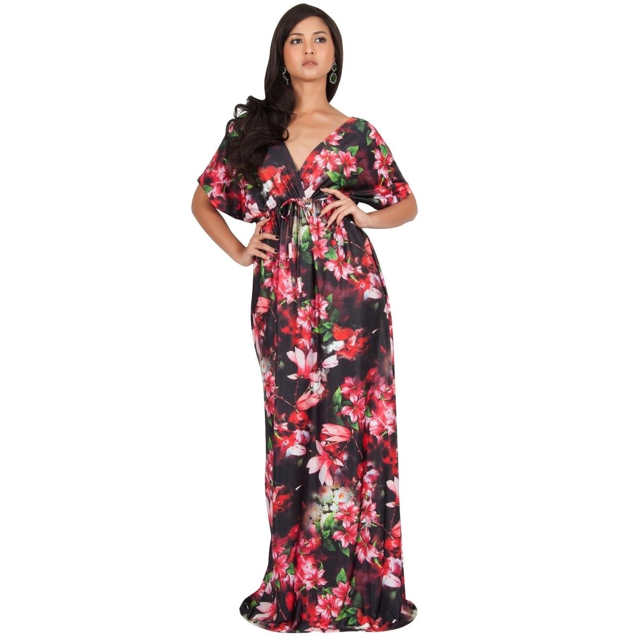 8db85da4aac Floral Print Maxi Dresses With Sleeves - Data Dynamic AG