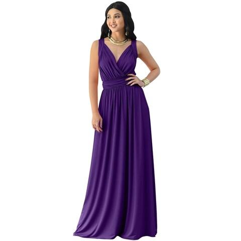 Koh Koh Women's Long Ball Gown Sleeveless Formal Maxi Dress