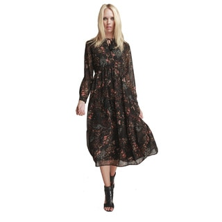 Walter Baker Marlene Desert Bloom Long Sleeve Dress