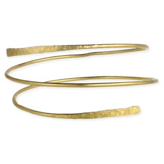 Hammered Gold Arm Cuff