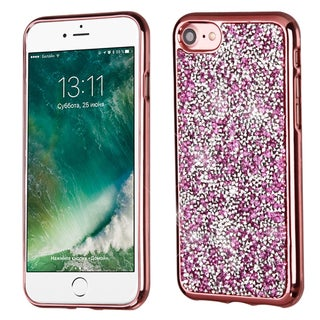 Insten Electroplated TPU Hard Snap-on Diamond Bling Case Cover For Apple iPhone 7