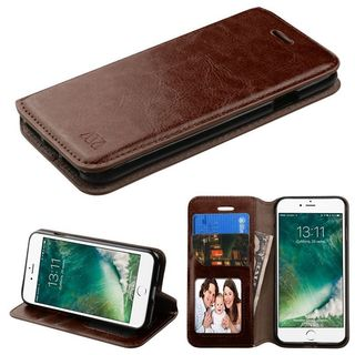 INSTEN Leather Cover Case with Stand/ Wallet Flap Pouch/ Photo Display For Apple iPhone 7/ iPhone 8