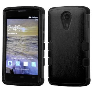 Insten Hard PC/ Silicone Dual Layer Hybrid Rubberized Matte Case Cover For ZTE Uhura N817