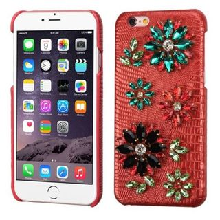 Insten 3D Leather Hard Plastic Case Cover with Diamond For Apple iPhone 6 Plus/ 6s Plus