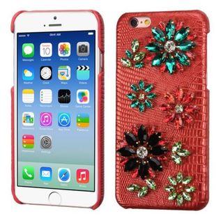Insten 3D Leather Hard Plastic Case Cover with Diamond For Apple iPhone 6/ 6s