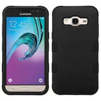 Insten Hard PC/ Silicone Dual Layer Hybrid Rubberized Matte Case Cover For Samsung Galaxy Amp Prime/ J3(2016)