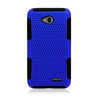 Insten Hard Snap-on Dual Layer Hybrid Case Cover For LG Optimus Exceed 2 VS450PP Verizon/ Optimus L70 MS323/ Realm LS620