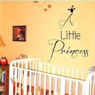 A Little Princess girl Words Vinyl Sticker Home Vinyl Art Nursery Room Decor Sticker Decal size 22x3
