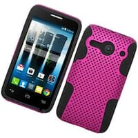 Insten Hard PC/ Silicone Dual Layer Hybrid Rubberized Matte Case Cover For Alcatel One Touch Evolve 2